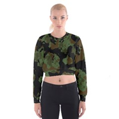 Military Background Texture Surface  Cropped Sweatshirt