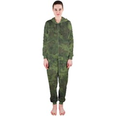 Military Background Spots Texture  Hooded Jumpsuit (ladies)