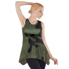Military Spots Texture Background  Side Drop Tank Tunic
