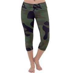 Military Spots Texture Background  Capri Yoga Leggings