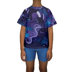Nightmare Rarity Stream Wall  Kids  Short Sleeve Swimwear
