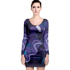 Nightmare Rarity Stream Wall  Long Sleeve Bodycon Dress