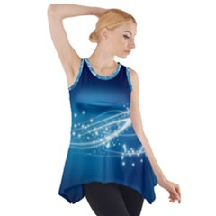 Lines Points Curves Glow  Side Drop Tank Tunic