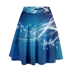 Lines Points Curves Glow  High Waist Skirt