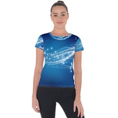 Lines Points Curves Glow  Short Sleeve Sports Top