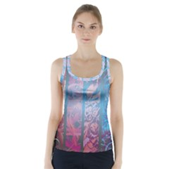 Lines Stripes Pattern Cloudy  Racer Back Sports Top