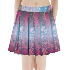 Lines Stripes Pattern Cloudy  Pleated Mini Skirt