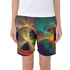 Light Color Line Smoke Women s Basketball Shorts