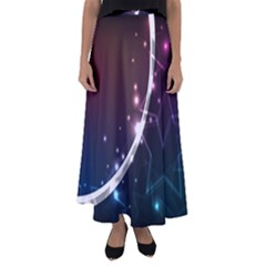 Lines Rays Glare Star Light Shadow  Flared Maxi Skirt