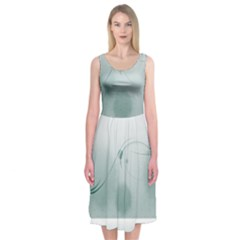 Gray Points Curves Patches Vector Minimalism  Midi Sleeveless Dress