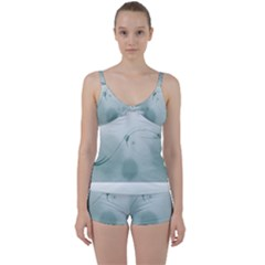 Gray Points Curves Patches Vector Minimalism  Tie Front Two Piece Tankini