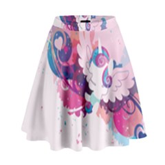 Flurry Heart Stream Wall  High Waist Skirt