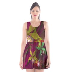 Drawing Abstract Ball Scoop Neck Skater Dress