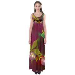 Drawing Abstract Ball Empire Waist Maxi Dress