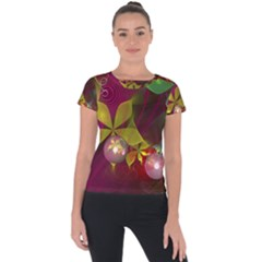 Drawing Abstract Ball Short Sleeve Sports Top