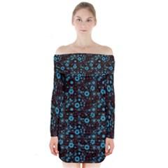 Color Pattern Surface Texture 69666 3840x2400 Long Sleeve Off Shoulder Dress