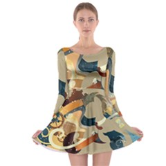 Dr Hooves Stream Long Sleeve Skater Dress