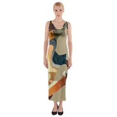 Dr Hooves Stream Fitted Maxi Dress