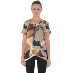 Dr Hooves Stream Cut Out Side Drop Tee