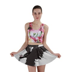 Angel Wings Flower Vector  Mini Skirt