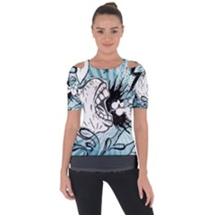 App Storm Apple Mac Devouring Vector Blue White  Short Sleeve Top