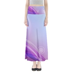 Background Circles Curves Vector Minimalism  Full Length Maxi Skirt