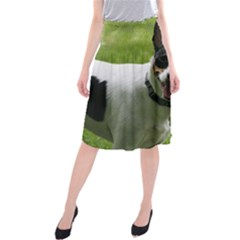 Full 2 Rat Terrier Midi Beach Skirt