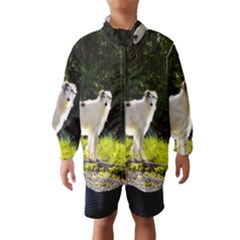 Borzoi In Woods Wind Breaker (kids)