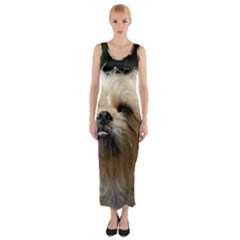 Brussels Griffon Fitted Maxi Dress