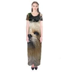 Brussels Griffon Short Sleeve Maxi Dress