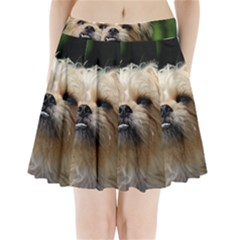 Brussels Griffon Pleated Mini Skirt