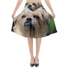 Brussels Griffon Flared Midi Skirt