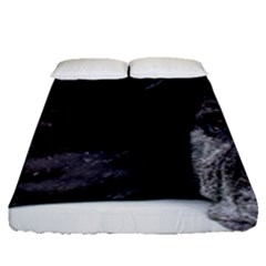 Neapolitan Mastiff Laying Fitted Sheet (queen Size)