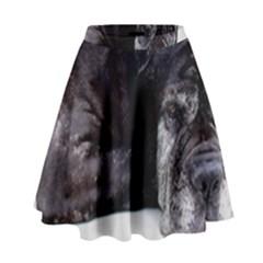 Neapolitan Mastiff Laying High Waist Skirt