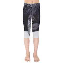 Neapolitan Mastiff Laying Kids  Capri Leggings