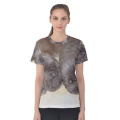 Neapolitan Pups Women s Cotton Tee