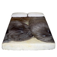 Neapolitan Pups Fitted Sheet (california King Size)
