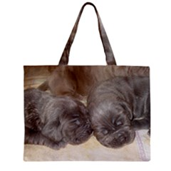 Neapolitan Pups Zipper Mini Tote Bag
