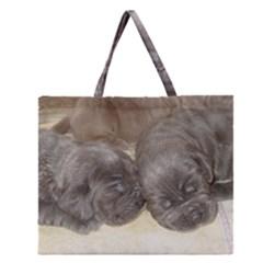 Neapolitan Pups Zipper Large Tote Bag