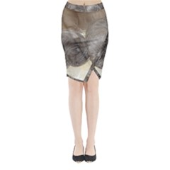 Neapolitan Pups Midi Wrap Pencil Skirt