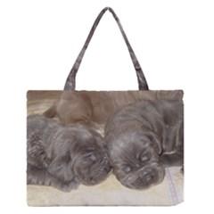 Neapolitan Pups Zipper Medium Tote Bag