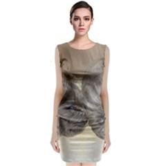 Neapolitan Pups Sleeveless Velvet Midi Dress