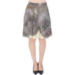 Neapolitan Pups Velvet High Waist Skirt