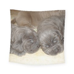 Neapolitan Pups Square Tapestry (small)