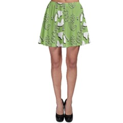 Cow Flower Pattern Wallpaper Skater Skirt
