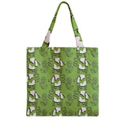 Cow Flower Pattern Wallpaper Grocery Tote Bag
