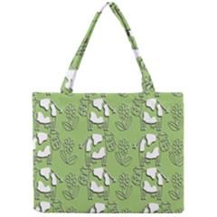 Cow Flower Pattern Wallpaper Mini Tote Bag