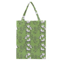 Cow Flower Pattern Wallpaper Classic Tote Bag