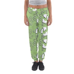 Cow Flower Pattern Wallpaper Women s Jogger Sweatpants