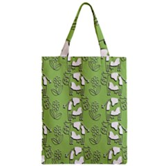 Cow Flower Pattern Wallpaper Zipper Classic Tote Bag